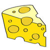 Coloring pages color example piece of cheese