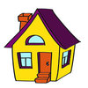 Coloring pages color example house