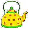 Coloring pages color example dishes, kettle