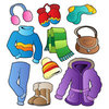 Coloring pages color example warm winter clothing