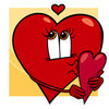 Coloring pages color example cute heart valentine
