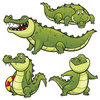 Coloring pages color example crocodiles
