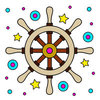 Coloring pages color example ship steering wheel