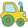 Coloring pages color example toy tractor for boys