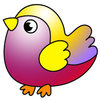 Coloring pages color example small bird
