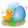 Coloring pages color example chicken paints an egg for easter