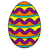 Coloring pages color example easter egg with pattern