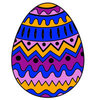 Coloring pages color example easter egg with patterns