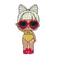Раскраска кукла лол в желтом купальнике (spf q.t.) для ...