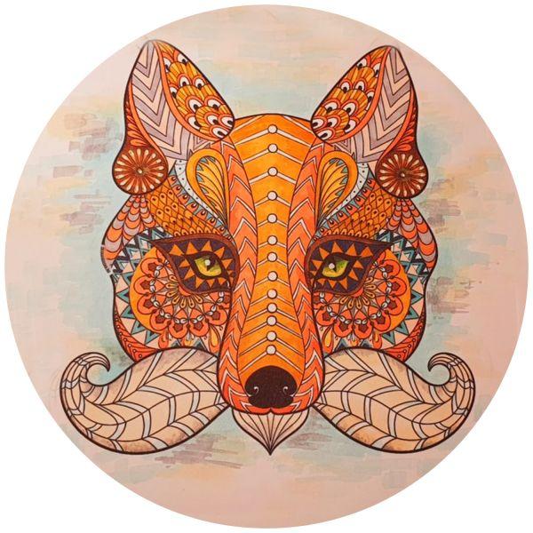 Раскраска антистресс волк распечатать