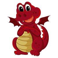 Раскраска маленький дракоша для детей распечатать