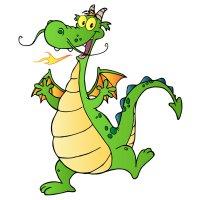 Раскраска усатый дракон для детей распечатать