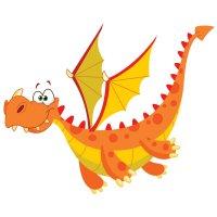 Раскраска летающий дракон для детей распечатать