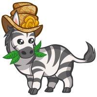Раскраска зебра в шляпе распечатать бесплатно