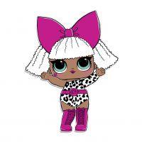 Раскраска кукла лол девочка дива (diva) для девочек ...
