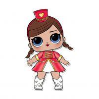 Раскраска кукла лол девочка в красном (majorette) для ...