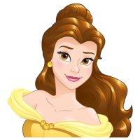 Раскраска голова принцессы белль для девочек распечатать