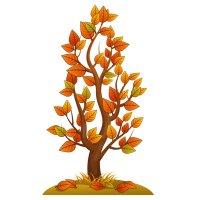 Раскраска золотая осень дерево для детей распечатать формат А4