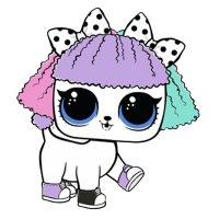 Раскраска ЛОЛ питомец щенок милый для девочек распечатать ...