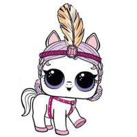 Раскраска лол питомцы пони для девочек распечатать
