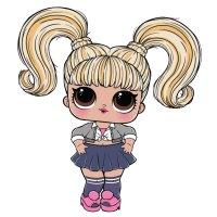 Раскраска куклы лол упс бэйби с двумя хвостиками для ...