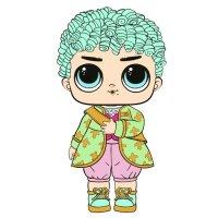 Раскраска кукла лол мальчик королевский для девочек ...
