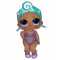 Раскраска кукла лол в купальнике драгоценаая для девочек ...