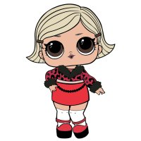 Раскраска кукла лол в короткой юбке для девочек ...