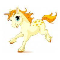 Раскраска сказочный пони единорог скачет для девочек ...