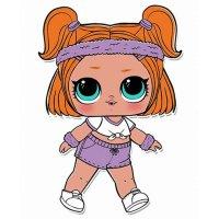 Раскраска кукла лол спортсменка спринт для девочек ...