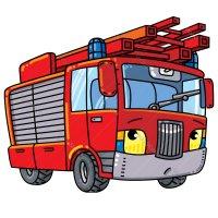Раскраска машина детская пожарная для мальчиков ...