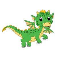 Раскраска малыш дракон для детей распечатать