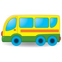 Распечатать раскраску маленький автобус для детей бесплатно