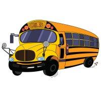 Распечатать раскраску школьный автобус для детей бесплатно