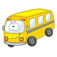 Распечатать раскраску детский автобус для детей бесплатно