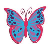 Раскраска бабочка с большими крыльями для детей ...