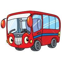 Распечатать раскраску автобус с глазками для детей бесплатно