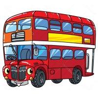 Распечатать раскраску Лондонский двухэтажный автобус для ...