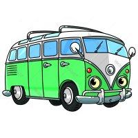 Раскраска машина маленький ретро автобус для мальчиков ...