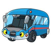 Распечатать раскраску Автобус для пассажиров для детей ...