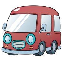 Распечатать раскраску минивэн автобус для детей бесплатно