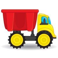 Раскраска грузовик самосвал игрушечный для мальчиков ...