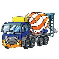 Раскраска грузовик бетономешалка для мальчиков распечатать
