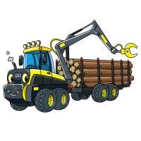 Раскраска грузовик лесовоз для мальчиков распечатать