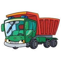 Раскраска грузовик самосвал для мальчиков распечатать