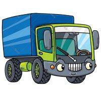 Раскраска грузовик с кузовом для мальчиков распечатать