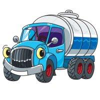 Раскраска грузовик молоковоз для мальчиков распечатать