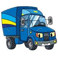 Раскраска грузовик с глазками для мальчиков распечатать