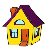 Раскраска для детей 3-4 года домик распечатать