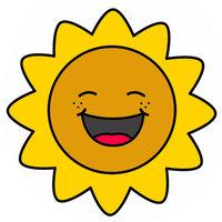 Картинка-раскраска для детей 3-4 года солнышко распечатать